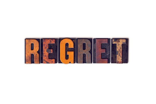 Regret Concept Isolated Letterpress Type