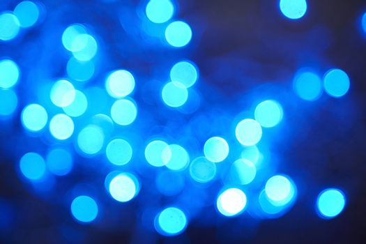 Celebration defocused background. Blue color, horizontal photo