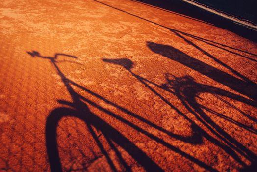 Vintage bicycle shadow