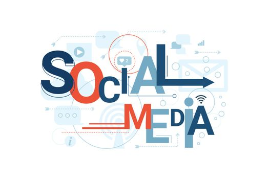 Social Media Word Typography