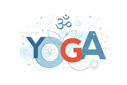 Yoga Word Typography