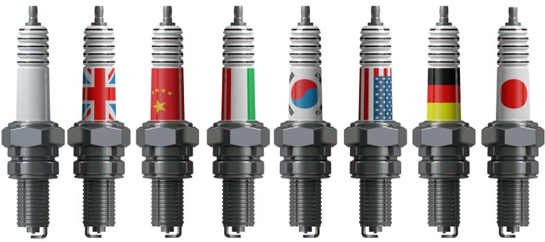 Spark plug for the engine of the car