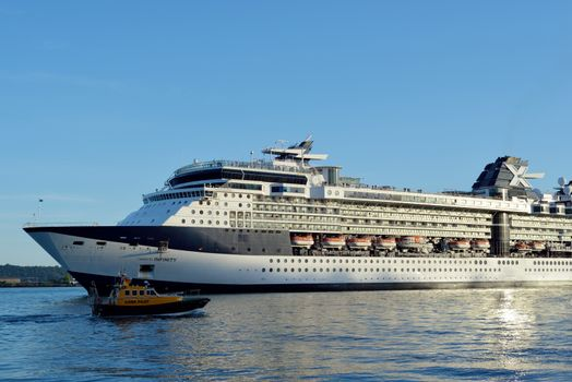 celebrity infinity cruise ship leaving cobh in ireland
