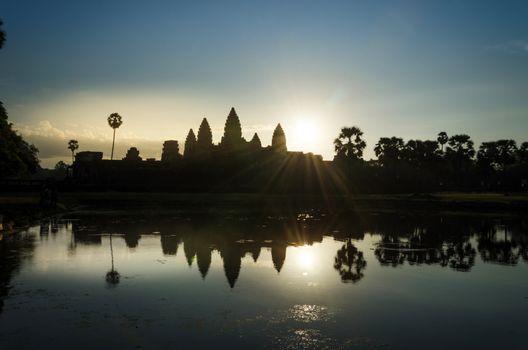Sunrise at Angkor Wat temple in Siem Reap
