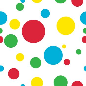 Seamles pattern with colored bubbles over white
