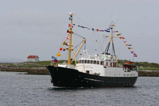 Gamle Helgeland på tur imm til Brønnøysund