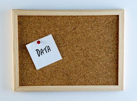 Data Piinned on Cork Bulletin Board