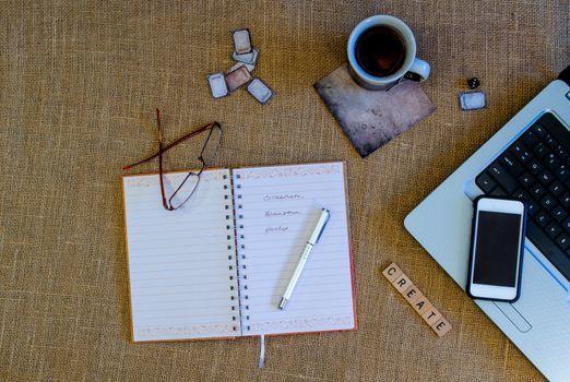 Journal Scene with Open Journal