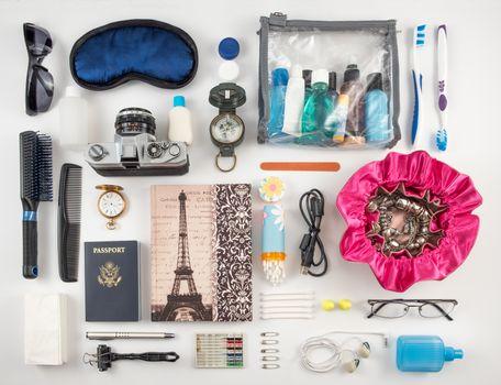 Travel essentials montage