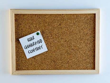 User Generated Content Pinned on Cork Bulletin Board