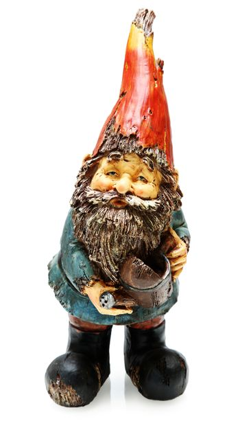 Adorable Wooden Garden Gnome with Watering Can
