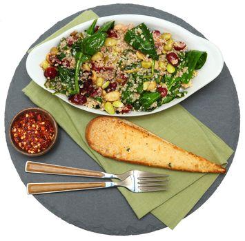 Cranberry Spinach Quinoa Salad
