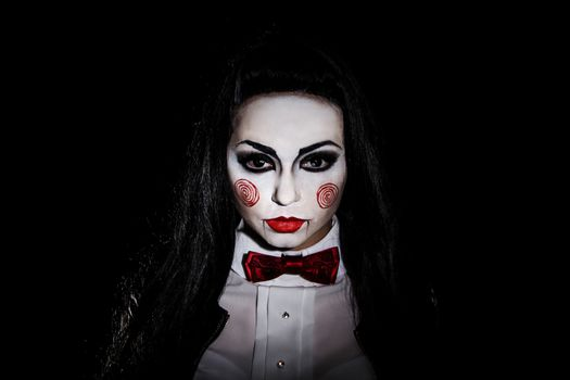 Woman with a Saw film cosplay makeup