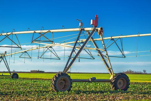 Automated farming irrigation sprinklers