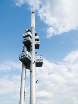 Zizkov Television Tower in Prague, Czech Republic