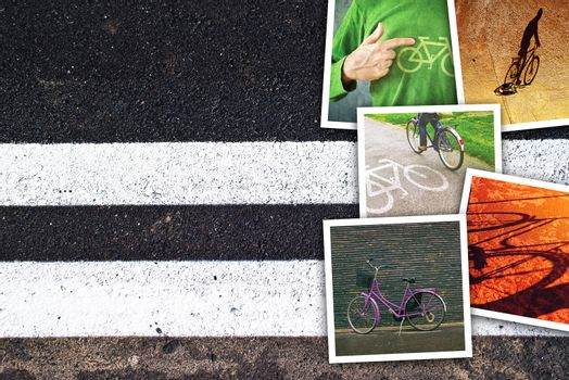 Bicycle pictures collage