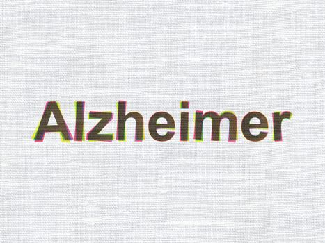 Medicine concept: Alzheimer on fabric texture background