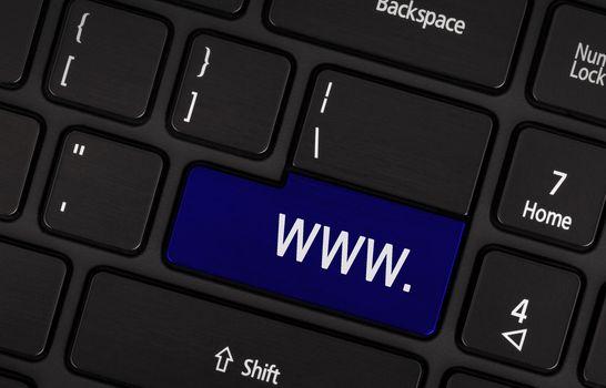 Blue www button