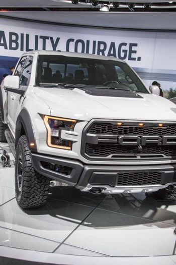 DETROIT - JANUARY 17 :The 2017 Ford Raptor pickup truck at The N