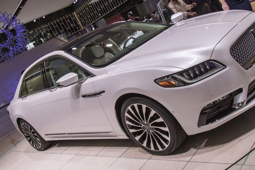DETROIT - JANUARY 17 :The 2017 lincoln continental  at The North