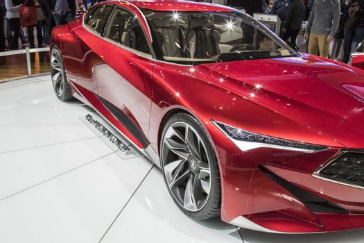 DETROIT - JANUARY 17 :The acura precision concept at The North A