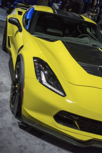 DETROIT - JANUARY 17 :The 2017 Chevrolet Corvette at The North A