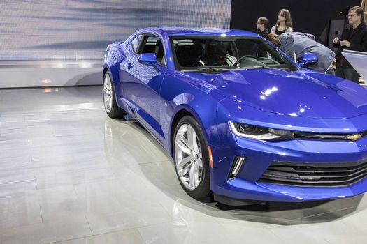 DETROIT - JANUARY 17 :The 2017 Chevrolet Camaro at The North Ame