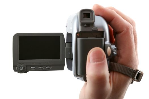 Widescreen camera (focus on the blank display)