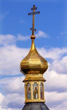 Cross Golden Dome Kiev Ukraine