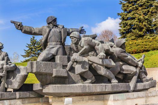 Soviet Soldiers Attacking Kiev Ukraine