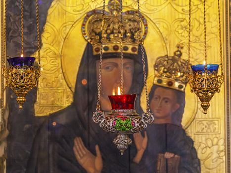 Incense Burners Madonna Icon Kiev Ukraine