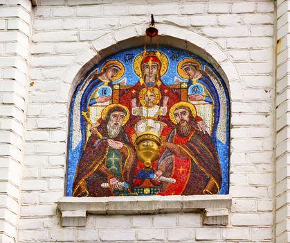 Nativity Mosaic Holy Assumption Pechersk Lavra Cathedral Kiev