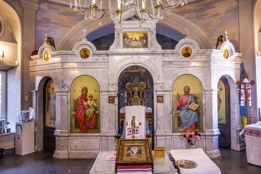 Altar Icons Church Saint Nicholas Askold's Grave Kiev Ukraine
