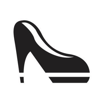 Fashion vector black woman shoes on white background