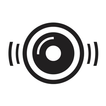 turntable disc music icon