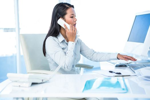 Businesswoman having phone call