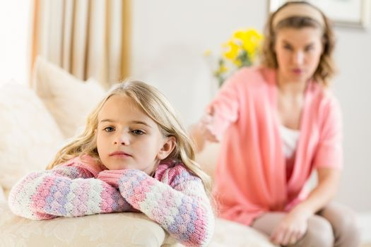 Mother and daughter annoyed at each other