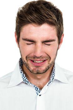 Close-up of crying man