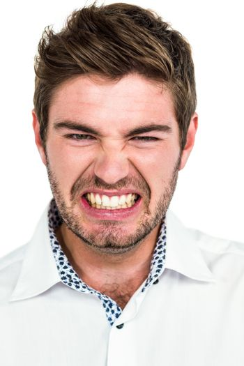 Portrait of angry man