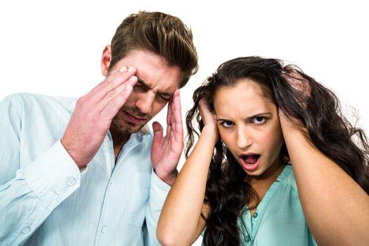 Troubled couple having argument