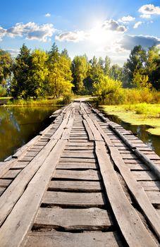 Bridge through river
