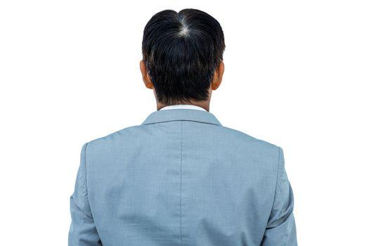 A back turned businessman