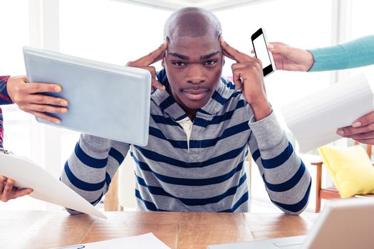 Portrait of frustrated businessman