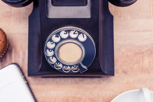 Land line on table