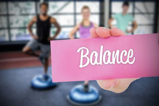 Balance against people background