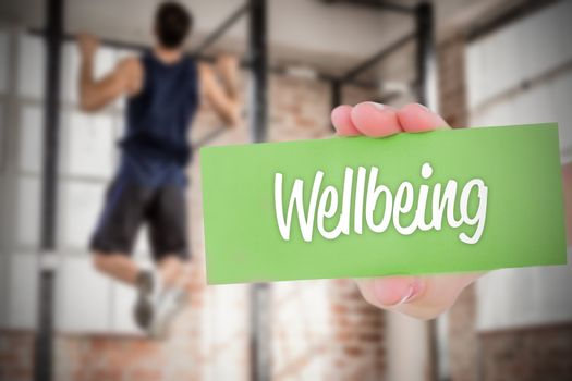 Wellbeing against people background