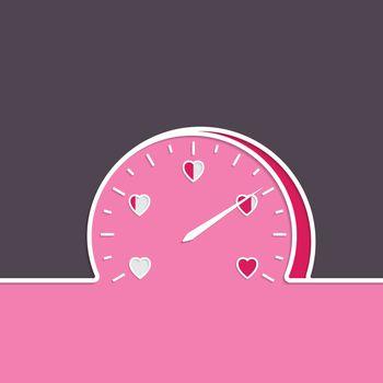 Love meter with heart gauge