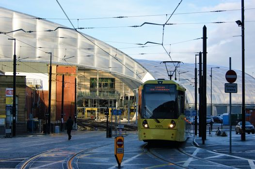 A Tram Leaving Victoria Station.