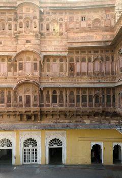 Facade of Meherangarh fort in jodhpur