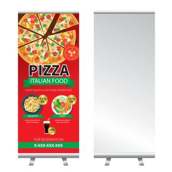 pizza roll up banner stand design